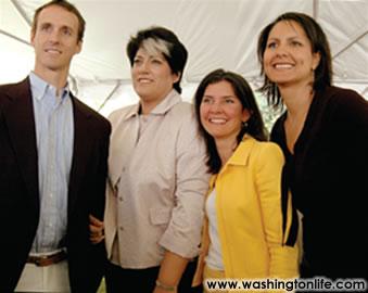 Rob Marshall, Tammy Haddad, Capricia Marshall and Karen Finney