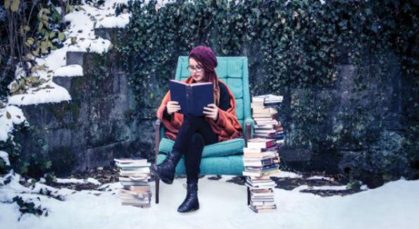 Winter reading (Photo via MrLib.org)