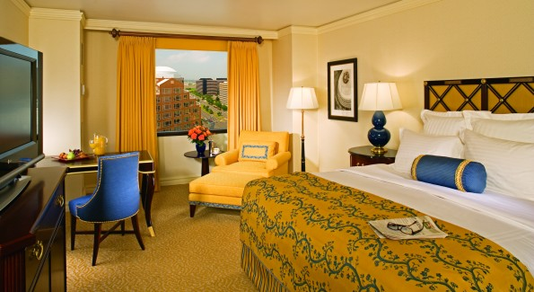 Club Level deluxe room at the Ritz-Carlton Pentagon City. (Photo courtesy Ritz-Carlton)