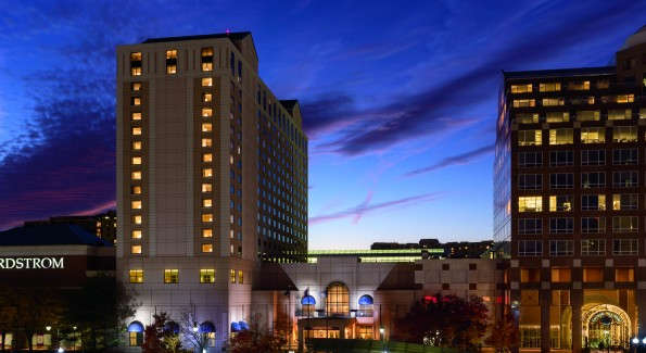 The Ritz-Carlton, Pentagon City is conveniently located next to the metro and has indoor access to the Pentagon City mall. (Photo courtesy Ritz-Carlton)