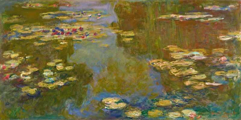 "Claude Monet - ""The Water Lily Pond"" (detail)"