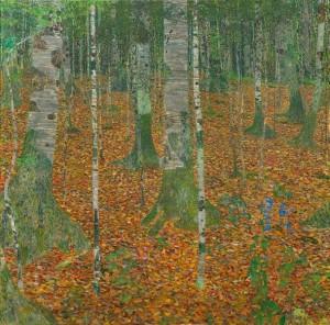 """Gustav Klimt - """"Birch Forest"""""""