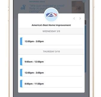 The Atlas Lane scheduling app.